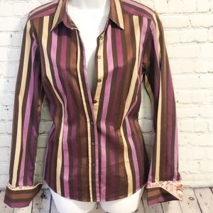 Ted Baker Striped Long Sleeve Button Down